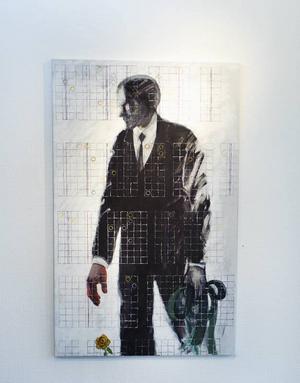 Nära döden? Målning av Mats Jonsson.