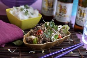 Fläskfärs är en underskattad råvara. Här i kryddig thailändsk tappning. Enkelt och supergott.