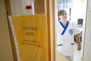 Hos Anna-Stina Nyberg fick besökarna testa om de ligger i riskzonen för astma eller kol.