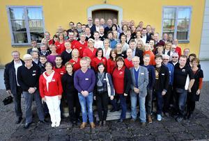 KIick-off. Här är 100-talet personer som arbetar med skid-VM i Falun 2015 - just nu.