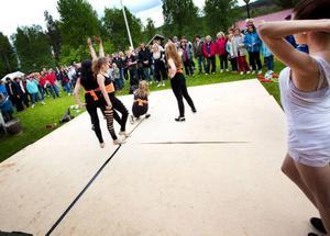 Dansuppvisning fanns också med på gårdagens schema.