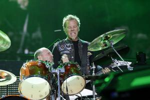 Metallicas trummis Lars Ulrich och frontfiguren James Hetfield.