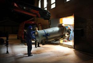UV-anläggningen från Katrineholm anländer till Östersund.