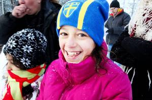 Anka Ibrahim från Makedonien tyckte det var roligt att åka skoter.