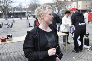 Vid 39 års ålder gick Anna Haga i sitt första 1 maj-tåg.