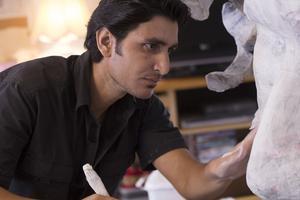 Maher Asaad är en av personerna som kommer till Vändplatsen för att skapa konst.