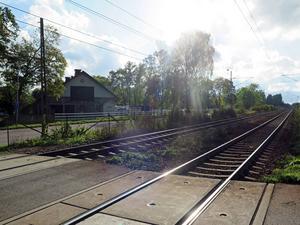 Järnvägen vid Tolvfors.