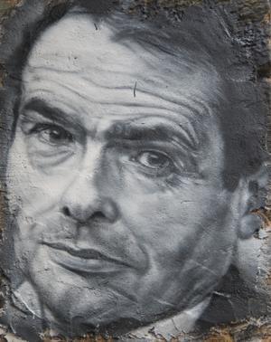Porträtt av den franske sociologen Pierre Bourdieu.