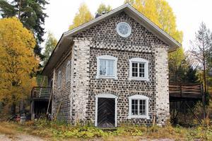 Den gamla vattendrivna kvarnen i Svabensverk byggdes också av slaggsten.