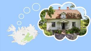 Ett hus som får islänningarna att drömma om Sverige.