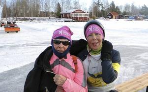 Dolly Gevent och Odile Schouter från Holland gillar den svenska isen och tystnaden.