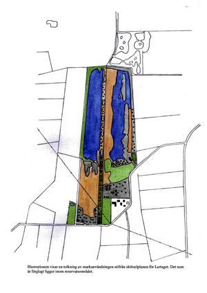 Utvidgat reservat. Så här kan det utökade naturreservatet komma att se ut, när Vissberga lertag har inkorporerats i dagens Björka lertag.Illustration: PRIVAT/JONAS ENGZELL