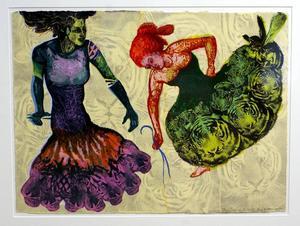 Spansk kadrilj. Serigrafi av Eva Zettervall.
