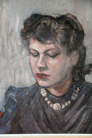 Pappa Bernhard Bergström målade även ett portätt av sin dotter Alice, då hon var runt 18 år.