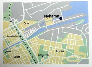 Så ska det se ut. Så här kommer etapp två av Gävle Strand att se ut när den står klar, enligt bygg- företaget Skanskas ritningar. På kartan till höger ser du var husen ska byggas.