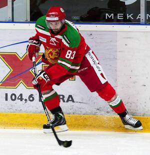Mattias Beck i Mora IK:s tröja.