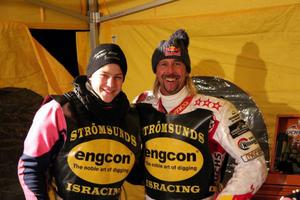 Strömsunds Jimmy Olsen, till vänster, tog en sensationell fjärdeplats vid SM-finalen.