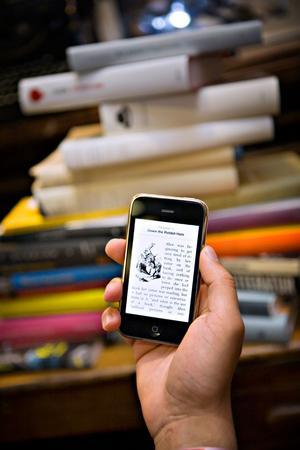 E-bok i en iPhone.