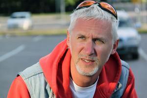 Jocke Mårdstam, en av grundarna av klubben Retro Riders.