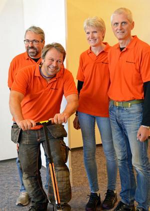 Arrangörerna bakom Företagsmässan i Malung är rustade för rekord, fr v Jan Kapla, Peter Svensson, Carina Robertsson och Jan Robertsson.