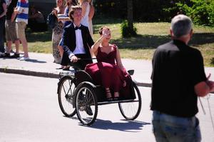 På väg till studenbalen 2011 i Visby