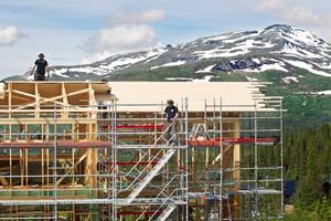 Bygge i Åre.