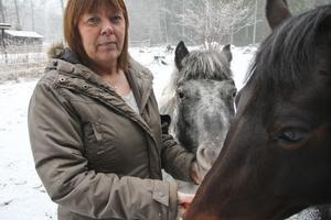 Elisabet Klar tror att TV3-såpan Grannfejden bidrog till att dämpa hennes konflikt med grannen. Nu trivs hon i Solbacka igen.