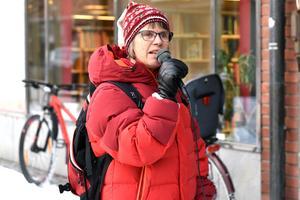 Ingrid Bergelin, ordförande Ett Mora för Alla, höll i välkomsttalet.
