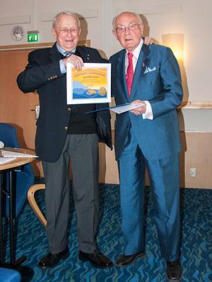 Två Lionsveteraner Knekt Mats Olofsson och Past International Director  Heinz Ondrejka.