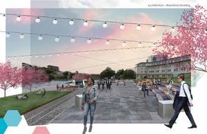 Fler platser att samlas på och uteserveringar är ett av de största önskemålen för Södertälje centrum med nya stadsdelen Norra stadskärnan – och att använda vattnet mer.