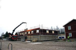 Studentbostäder under byggnation i Tingsnäs.