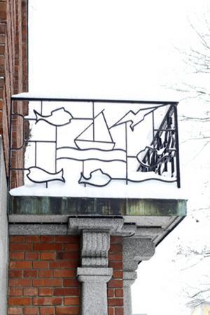 Motivsmidda balkongräcken på Länsmuseet.   Foto: Ur boken