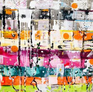 """""""Paint like hell"""" är ett uttryck för våndan att skapa inför ett utsatt mål, exempelvis en utställning.""""Det blir väldigt fysiskt,"""" förklarar Kåren Henriksson vad som händer med stora målningar."""