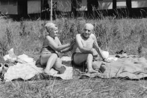 Mayvor och Erik Holmberg besökte Malnbaden sommaren 1994.