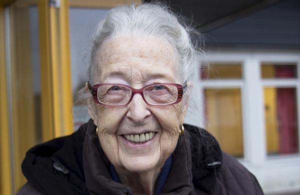 """""""Det är så bra som man kan fordra"""", säger Karin Trogen, 89, patient på Norbergs vårdcentral."""