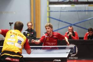 Anton Källberg var den enda i Suif som lyckades vinna ett set.