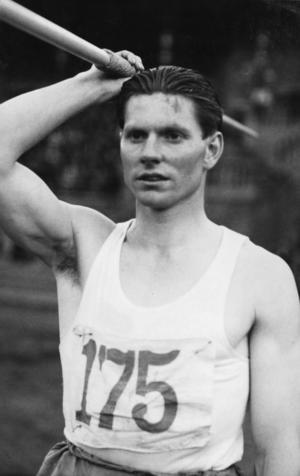 Atlet. Sven Daleflod tillhörde världseliten som spjutkastare under många år. Foto:Dala-Floda IF