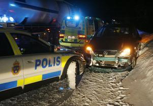 Omkörningsolycka.