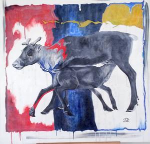 Niklas Blindhs måleri lyfter in renen i 2010-talet och det gillar jag väldigt mycket. Se honom på Storsjöteatern!
