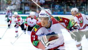 Nick Angell, under sin tid i KHL-klubben Metallurg Novokuznetsk.