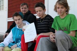 Enar Gesslin, Torulf Andersson, Daniel Edvardsson och Jonathan Lennartsson har alla deltagit i insamlingen till Afrikas horn.