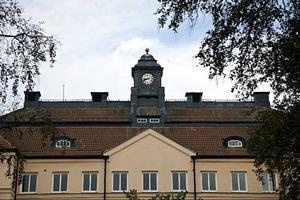 Klockhuset innehöll sjukhusets administration och kyrka.