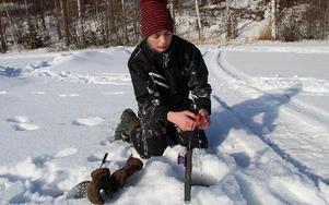 Edvin Malmqvist har ägnat sportlovet åt mer fiske än sömn. Men så är fiske ett jätteintresse. FOTO: KERSTIN ERIKSSON