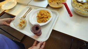 Mat på Södersjukhuset i Stockholm.