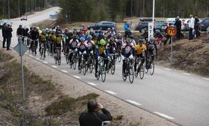 Den första upplagan av Härjedalstrampen blev lyckad. Närmare 100 deltagare till start gladde Svegs cykelordförande Håkan Degselius.