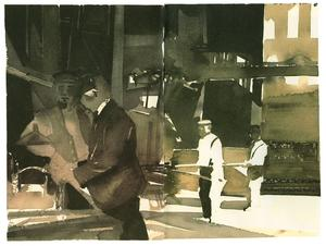 Akvarell av Lars Lerin i hans nya bok