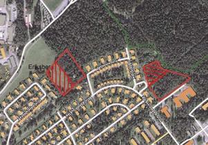De aktuella områdena där det planeras bostäder.