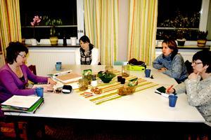 Jubileumsgruppen har haft sitt första möte. Från vänster Madde Larsson, Frida Larsson, Anna Bursic samt Annette Gustafsson.