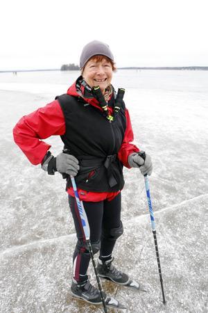 Margareta Lindblad är en van skridskoåkare och var också ute på isen i tisdags.