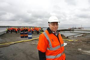 Göran Holm är ansvarig för det större projektet där utbyggnaden av Gävle hamn ingår. Nu ska teorierna prövas i verkligheten.
